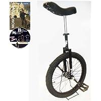 Monocycle Dodo 20 pouces (50cm) NOIR pour les enfants à partir de 11 ans + DVD offert