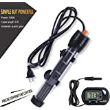 Orlushy Submersible Aquarium Heater,100W/150W/200W/300W Fish Tahk Heater with Adjust Knob Thermostat 2 Suction Cups and…