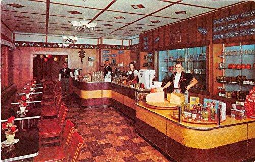 Wilmot Ohio inside coffee shop Alpine Cheese Factory vintage pc Z20626