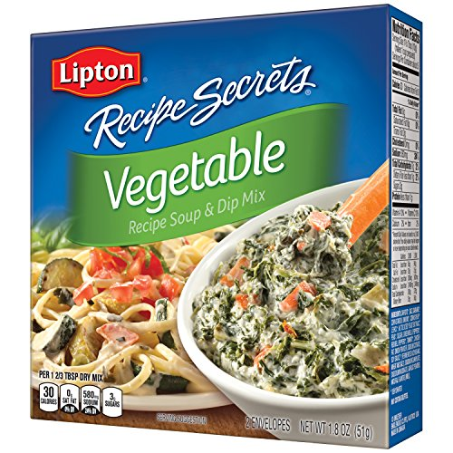 Wholesale Dip Mixes - Lipton Recipe Secrets Soup and Dip Mix, Vegetable 1.8 oz, Pack of 12