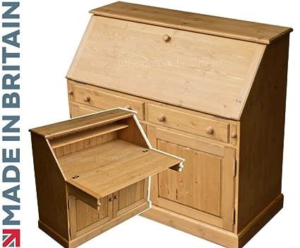 Tradicional Extra Grande mesa de pino maciza escritorio, hecha a ...