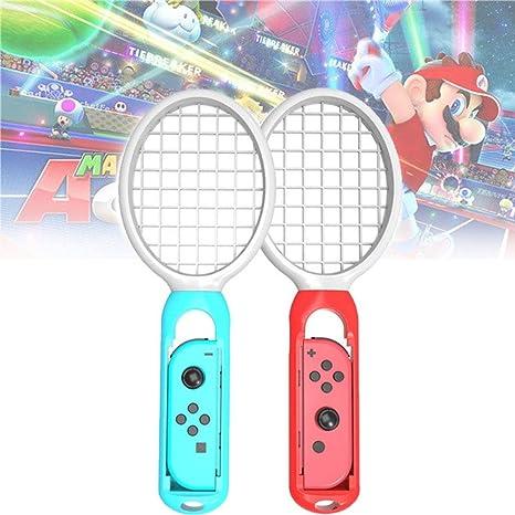 Raqueta de Tenis para Nintendo Switch Joy-Con Controller, Raqueta de Tenis para Mario Tennis Aces y Los Juegos de Raqueta Switch, 2 Pack: Amazon.es: Videojuegos