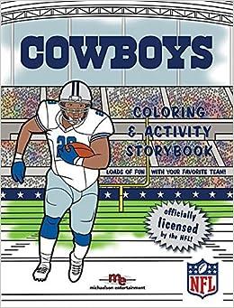 dallas cowboys coloring amp activity storybook brad m