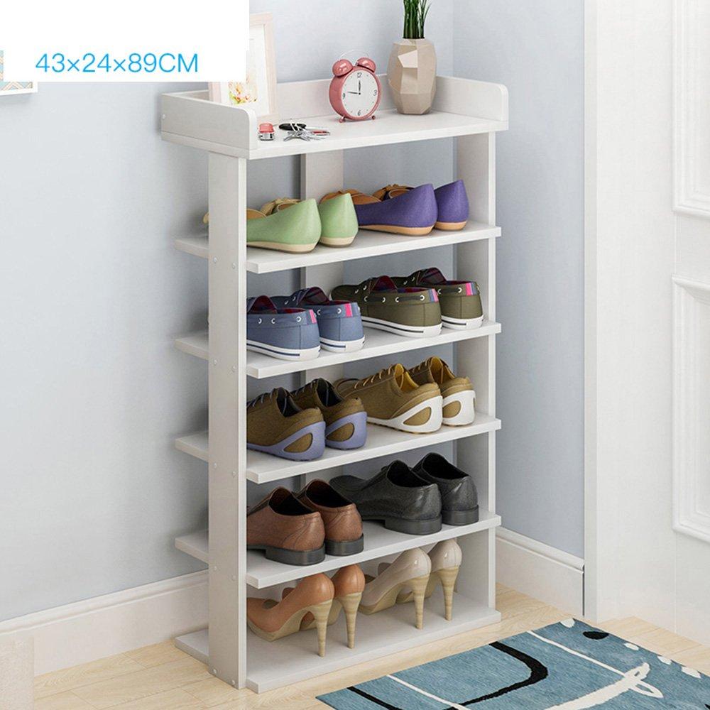 XIAOLIN シンプルな靴のラックマルチレイヤーアセンブリの靴のキャビネット多機能防塵靴のラックは、スペースを節約家庭用経済的なオプションの色、サイズ (色 : 白, サイズ さいず : Six floors) B07HHYWB6M 白 Six floors