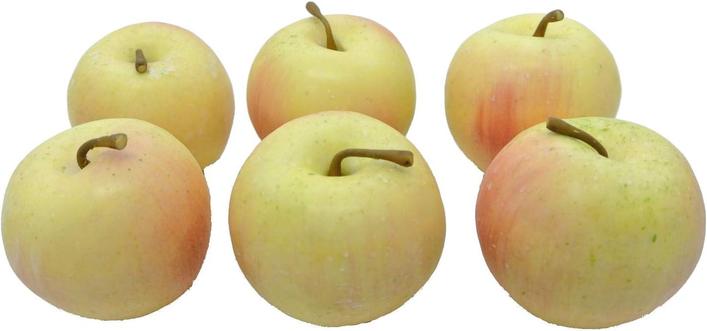 Schreiber Deko Apfel 6cm 6 St/ück//Dekoapfel//Gelb Rot