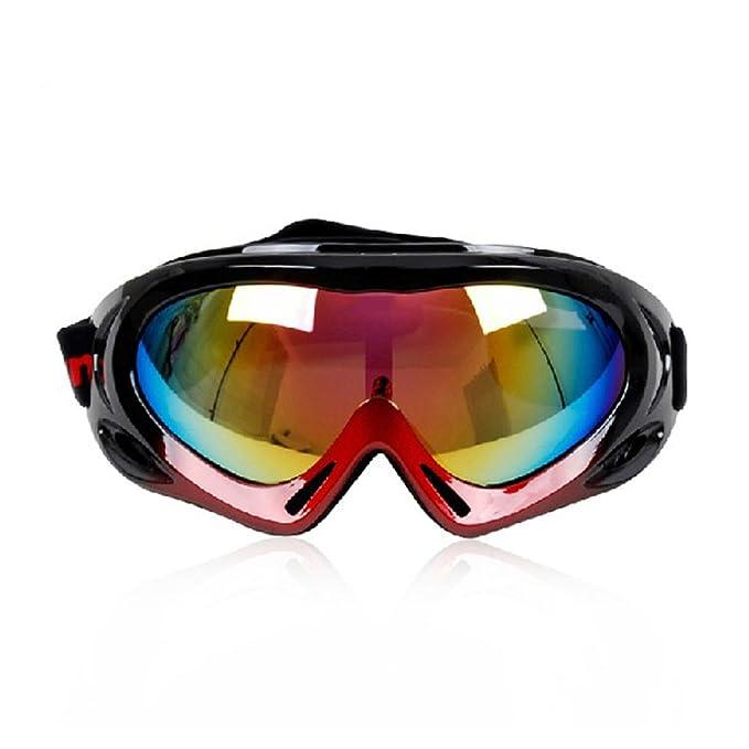 WDAKOWA Outdoor-Reiten Skispiegel Bergwind Männer und Frauen Sphärische Brille,F