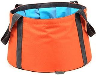 Lavado plegable al aire libre portátil viaje plegable lavabo bolsa de viaje al aire libre plegable puede poner agua caliente por debajo de 60 grados Celsius ( Color : Yellow , Size : 30*20 cm )