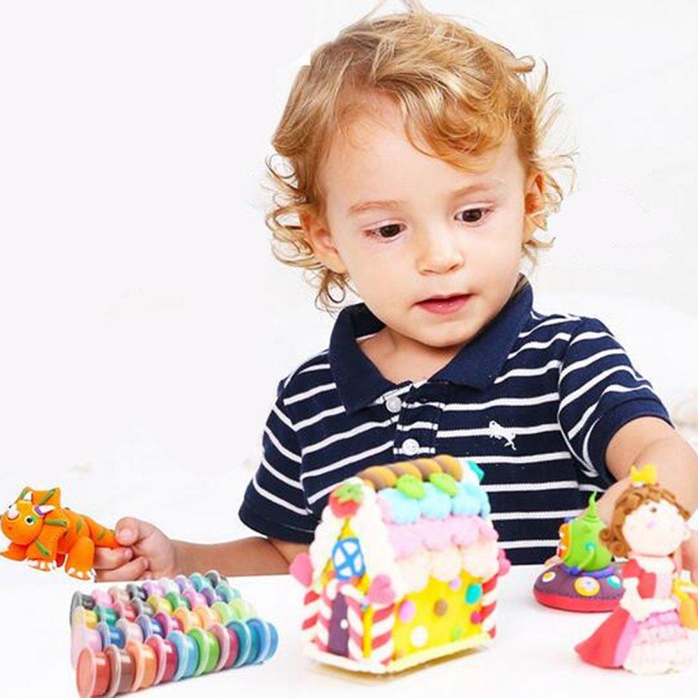 LanLan Jouets R/éveils /éducatifs Jouet /éducatif Magic Modeling Clay Non-Toxique Ultra-l/éger en p/âte /à Modeler Multicolore pour Les Enfants 12 Standard Edition