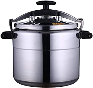 Pressure cooker, professional pressure cooker, explosion-proof aluminum alloy pressure cooker 3L-70L adopts sealed base, multiple safety design to ensure safe use (Color : Silver, Size : 4L)