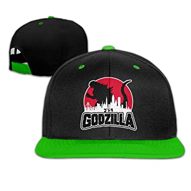 f383df98c Godzilla Adult Snapback Adjustable Baseball Cap Hip Hop Hat at Amazon  Women's Clothing store: