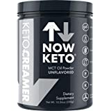 NOW KETO Keto MCT Oil Powder From Coconuts Low Carb High Fat Medium Chain Triglyceride Activates Ketosis & Boosts Ketones For Keto Diet. Great Keto Coffee Creamer. Unflavored