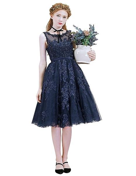 2e01a5c71 Beauty-Emily Evening Dresses 2017 Pearl Lace Mesh Sleeveless Beaded Midi in  Stock Transparent Back