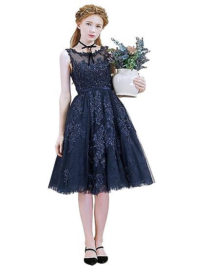 b9cc5e388d Beauty-Emily Cocktail Gowns for Women Lace Sleeveless Short Plus A line