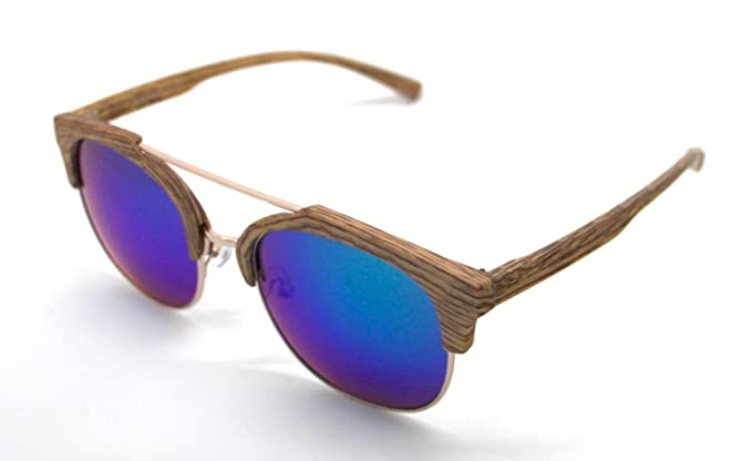 Totalcovers Gafas de Sol Hombre Mujer Lagofree W7017 Madera ...