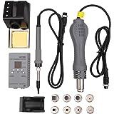 Extaum 2-in-1 Portable MCU Rework Soldering Station Constant Temperature Digital Anti-static Hot Air Machine Kit