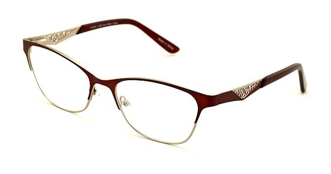 e590d92b56 Women Fashion Stainless Steel Non-prescription Glasses Frame Clear Lens  Metal Eyeglasses - Wide Fitment