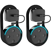 Echo Dot Holder Outlet Wall Mount Hanger Stand for Alexa/Amazon Echo Dot 2nd Generation Plug in Kitchens Bathroom Bedroom Office (2-Pack)
