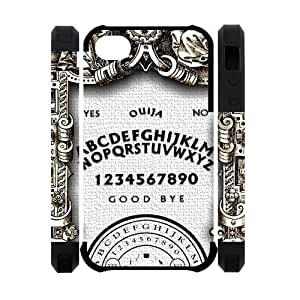 Ouija Board Spooky Pattern iPhone 4 4S Dual-protective Polymer Case Cover Customized Personalized Fashion Black Phone Case at Big-dream