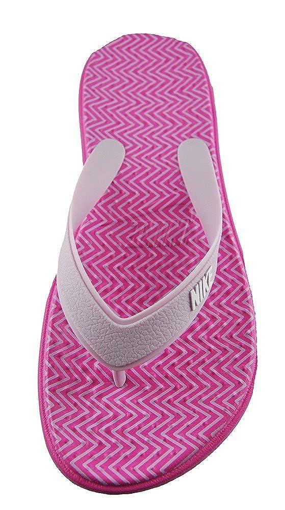 Nike Damen Wmns Solay Thong Print Flache Hausschuhe, Pink (Pinkfire Ii/Iced Lilac/White), 35.5 EU