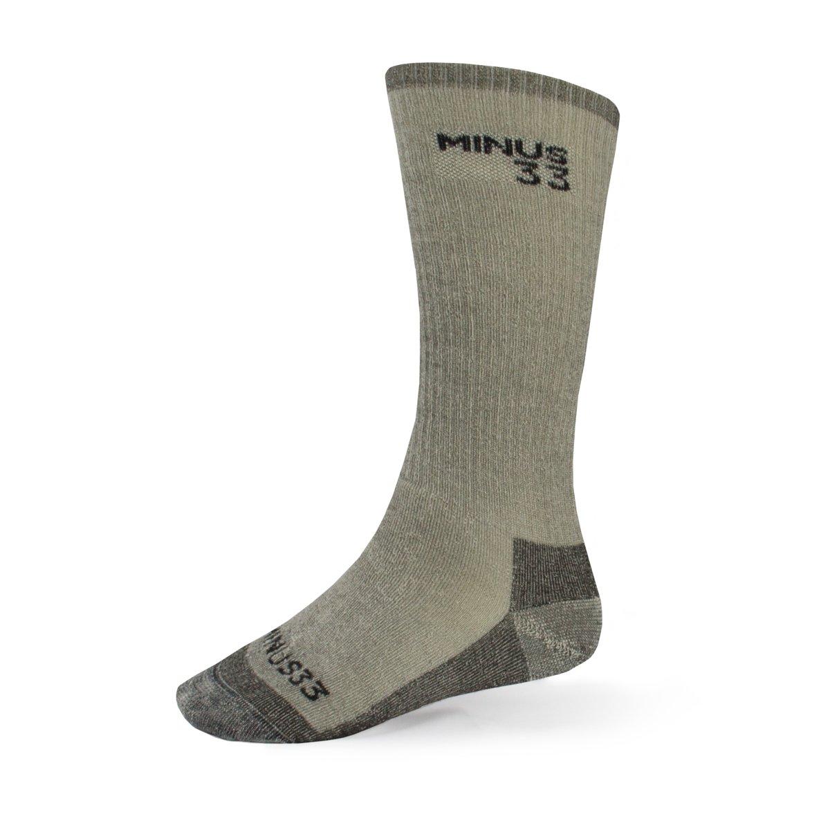 Minus33 Merino Wool Expedition Mountaineer Sock, Grey Heather, Small by Minus33 Merino Wool