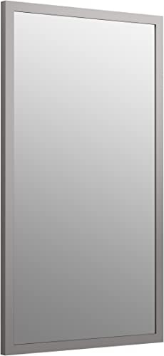 KOHLER K-99664-1WT Jacquard Rectangular Framed Mirror, 34.5 x 19.5 , Mohair Grey