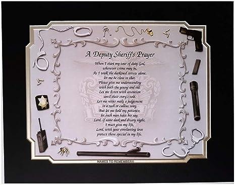 Amazon.com: Oración del Sheriff adjunto Idea de regalo para ...