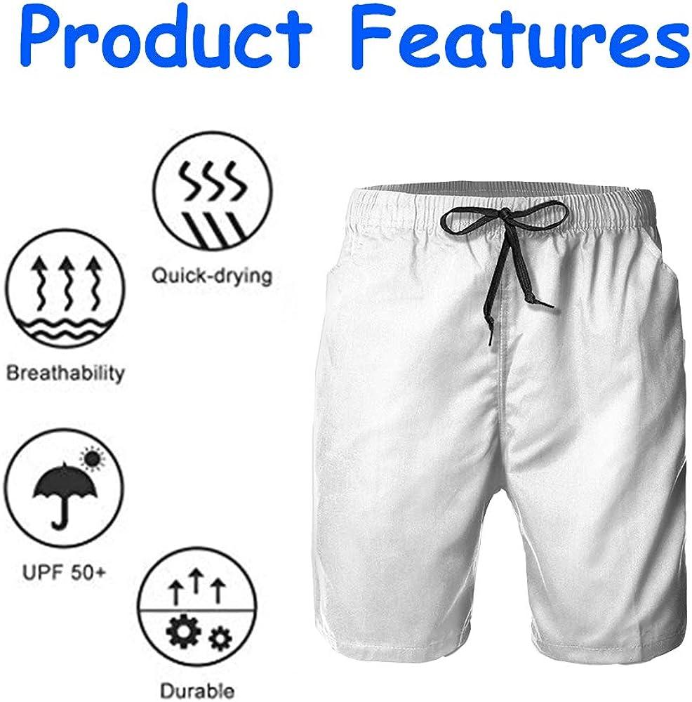 NiYoung Mens Fashion Swim Trunk Shorts Quick Dry Beach Swimwear with Pockets