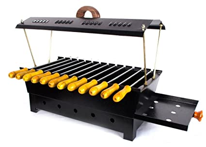 Amazon Com Barbeque Charcoal Grill 12 Hut Shaped Barbeque Black