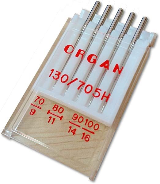 Órgano Agujas para máquina de coser JERSEY 130/705H – 4 tamaños: 7 ...