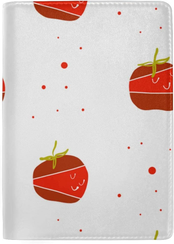 Case Passport Tomatoes And Sliced Tomatoes Vegetables Stylish Pu Leather Travel Accessories Case Passport For Women Men