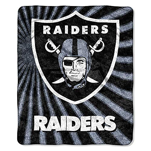Throw Raiders Oakland - The Northwest Company Officially Licensed NFL Oakland Raiders Strobe Sherpa on Sherpa Throw Blanket, 50