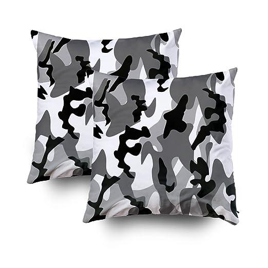 EMMTEEY - Funda de cojín para sofá, diseño de Camuflaje de ...