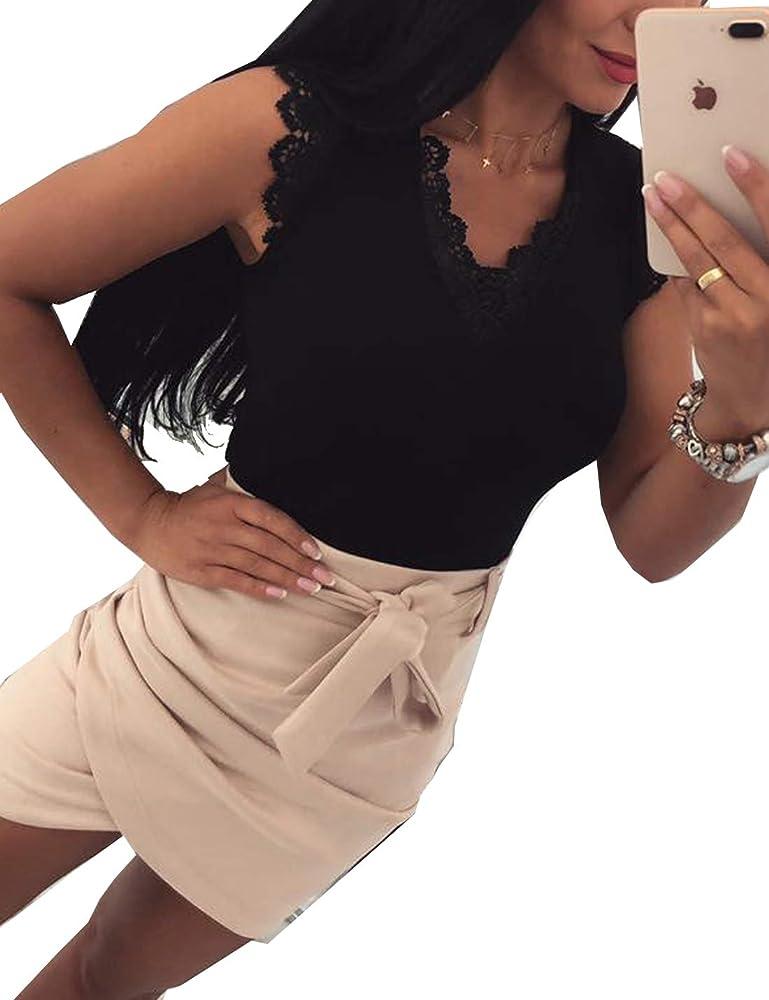 Camisa de Mujer Informal con diseño de Ratones y cordón silencioso, Cola de Verano Magra Tei Camisas Negro Small: Amazon.es: Ropa y accesorios