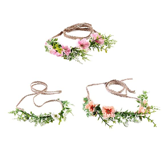 455c337ed Tieback Flower Crown Flower Headband Baby Girl Toddler Woodland Green Leaf  Floral Crown Wreath (3