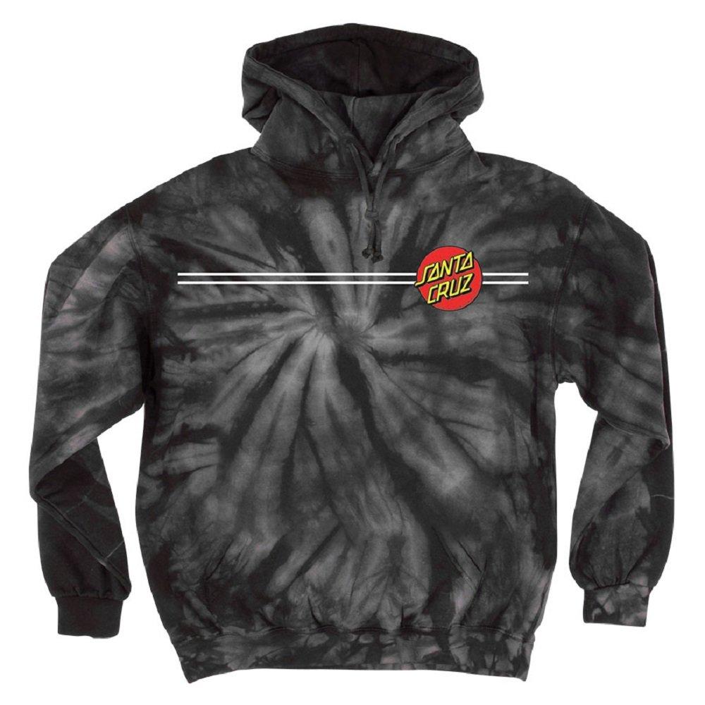 Santa Cruz Mens Classic Dot Hoody Pullover Sweatshirt Large Spider Black