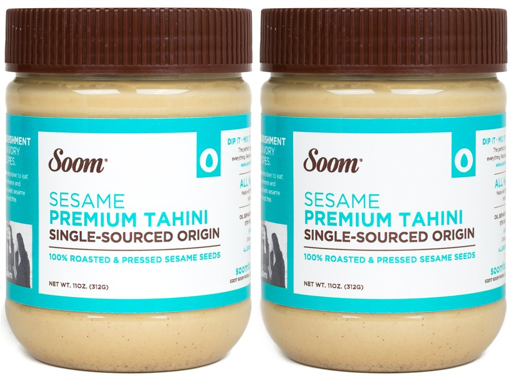 Soom Foods Pure Ground Sesame Tahini Paste 11oz (2 Pack)