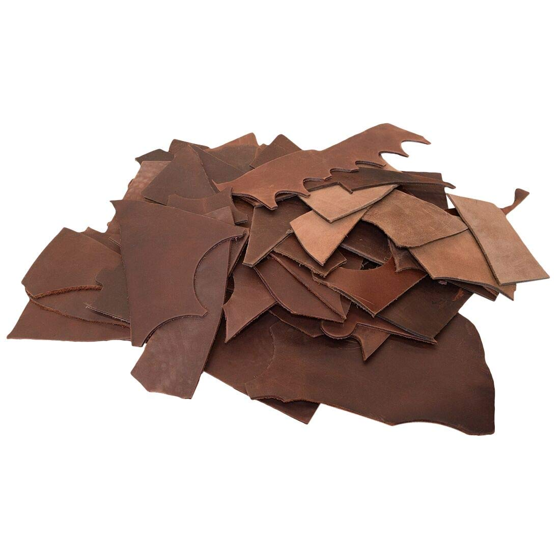 3.5mm Hide /& Drink Craft /& Workshop 4 Pound :: Bourbon Brown Trimming Thick Pieces Cow Leather Chips /& Scraps