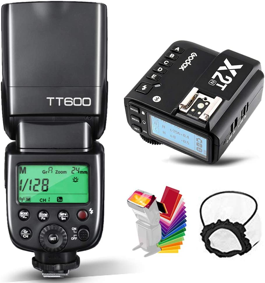 Godox TT600 HSS 1/8000s GN60 Flash Speedlite with Godox X2T-N Remote Trigger Transmitter,Built-in 2.4G Wireless X System Compatible for Nikon Cameras