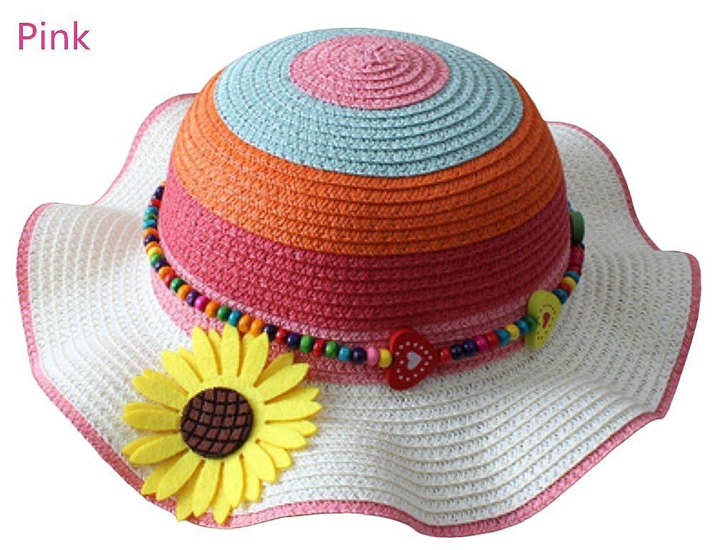 Leisial Cappello di paglia per bambini Cappello estivo Cappello da spiaggia  Cappello da sole Cappello del ingrandisci ce11cc815016