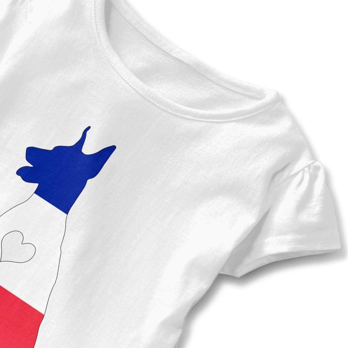 France Flag Adore Dobermans Dog Girls Short Sleeve Graphic Tops