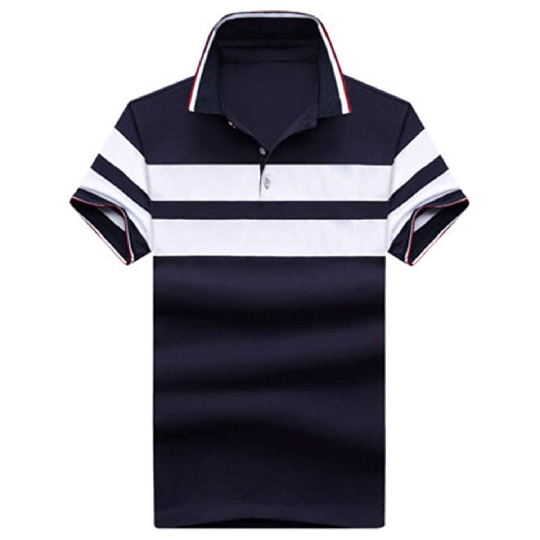 Summer Men Polos Cotton Short Sleeve Mens Polo Shirts Casual Turndown Collar Male Polos