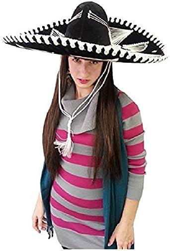 Amazon.com: Adulto Mariachi Sombrero Negro: Clothing
