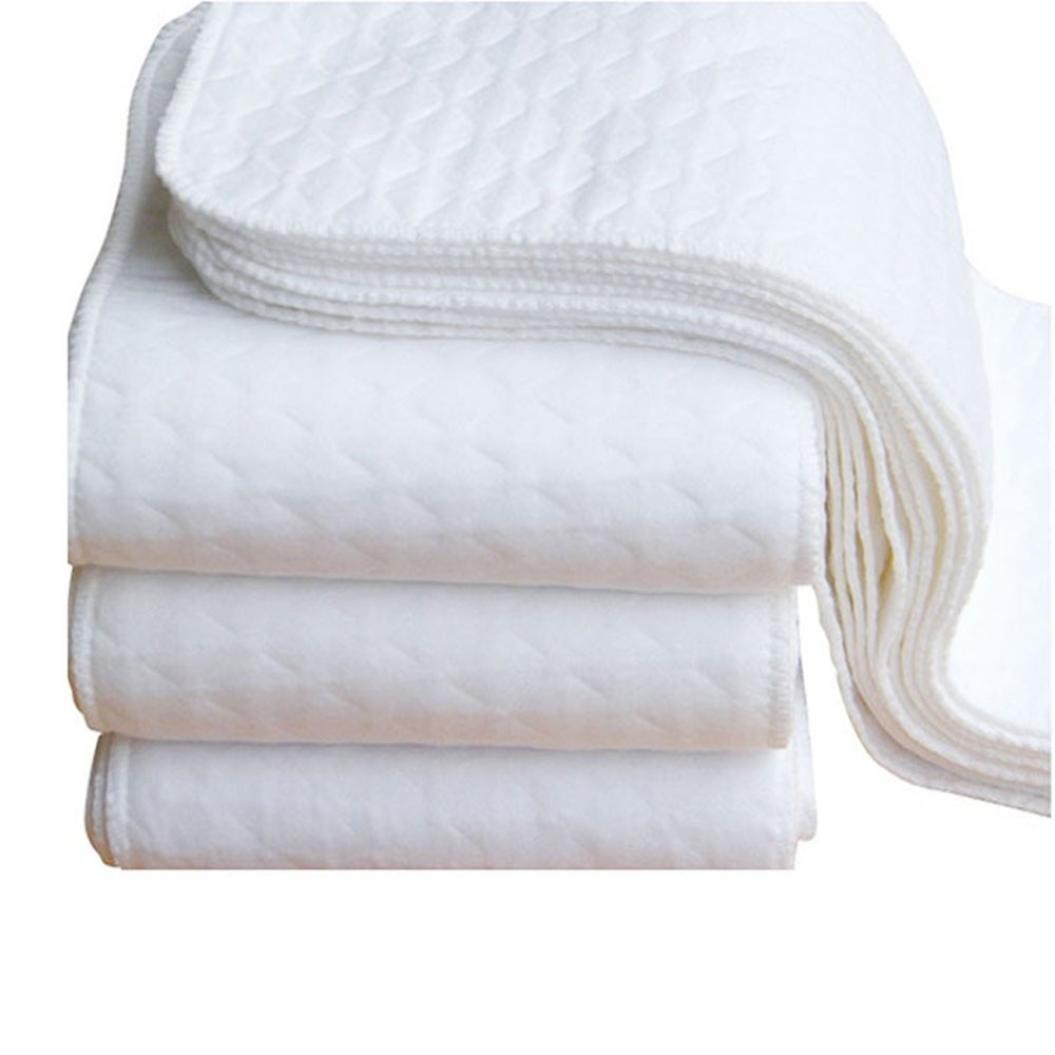 Xshuai 2pcs nouveau-né infantile bébé enfants Blanc écologique Coupon de Tissu Diaper couches lavables Snap couches réutilisables Xshuai®