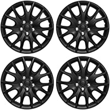 """OxGord Hubcaps Standard Steel Wheels (Pack of 4) Wheel Covers - Snap On - Choose a Size Color (Black Matte, Fits 15"""" Inch Wheel)"""