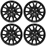 xterra wheel covers - OxGord Hubcaps for Standard Steel Wheels (Pack of 4) Wheel Covers - Snap On - Choose a Size and Color (Black Matte, Fits 15
