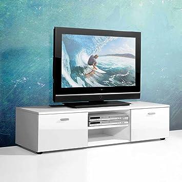 Pharao24 TV Unterschrank in Weiß Hochglanz 120 cm: Amazon.de: Küche ...