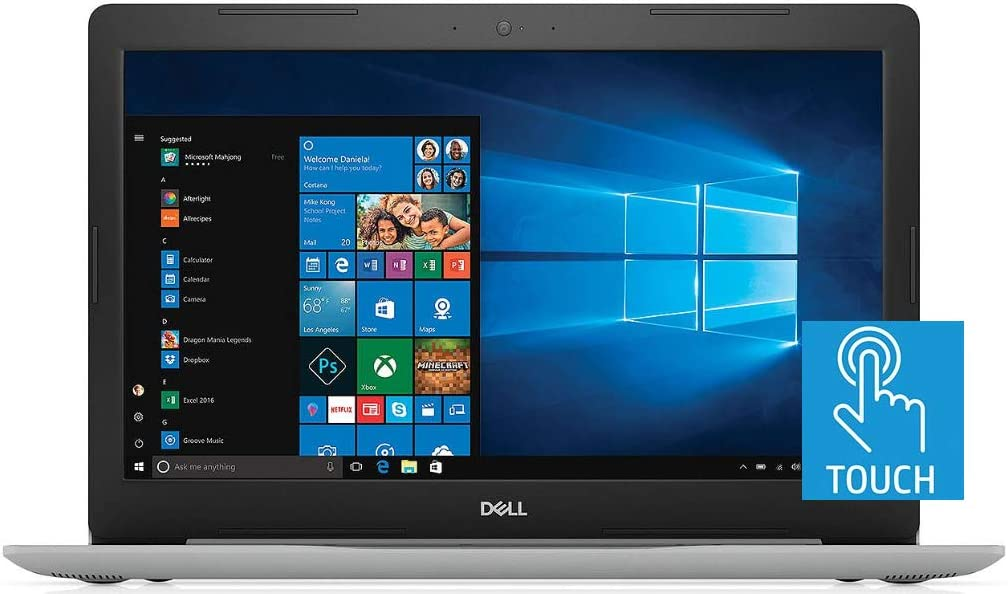 "2019 Dell Inspiron 5570 15.6"" FHD Touchscreen Laptop, Intel Quad Core i7-8550U, 16GB DDR4 Memory, 128GB SSD Boot + 1TB HDD, Backlit Keyboard, MaxxAudio, WiFi, HDMI, Card Reader, Windows 10"
