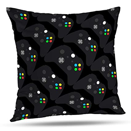 LALILO Throw Pillow Covers, Video Game Controller Accent Double-Sided  Pattern for Sofa Cushion Cover Couch Decoration Home Gift Bed Pillowcase  18x18