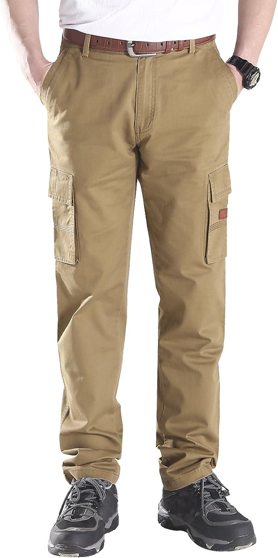Mr.Stream Mens Slim Straight-Fit Cotton Multi-Pocket Work Wear Carrier Cargo Pant