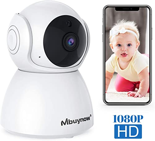 IP Camera Wireless Indoor 1080P, Mbuynow Surveillance Camera Wireless with Motion Alert, Night Vision, 2-Way Audio for Baby Monitor, Home Security with iOS, Android App – Cloud-Storage Available